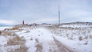 Vuurtoren van Texel in de winter