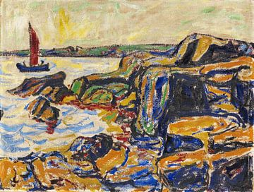 Felsen am Meere, ARTHUR SEGAL, 1912 von Atelier Liesjes