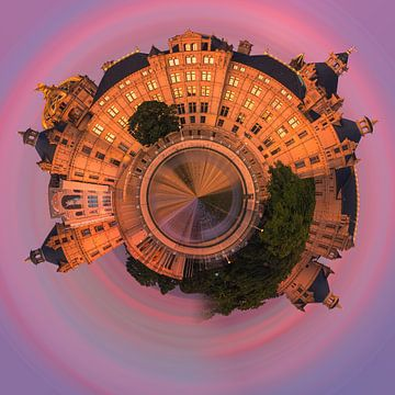 Een Photoshop creatie van het kasteel in Schwerin van Henk Meijer Photography