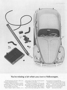 Vintage print kunst VW 1965