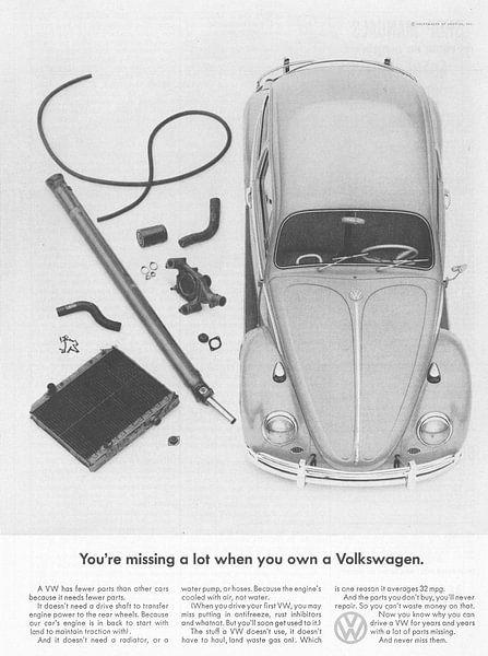 Vintage print kunst VW 1965 von Jaap Ros