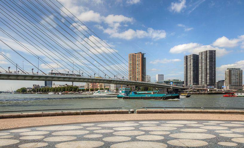 Erasmusbrug in Rotterdam van John Kreukniet