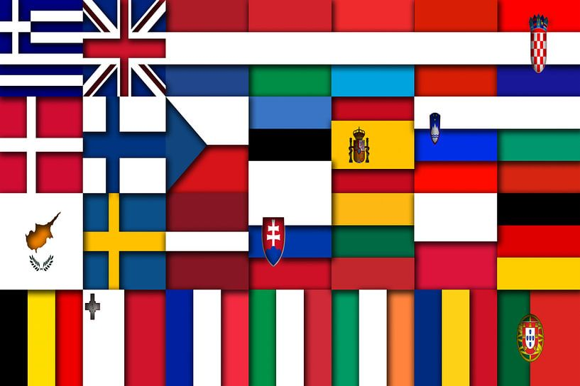 Vlaggen van de Unie 2: relief van Frans Blok