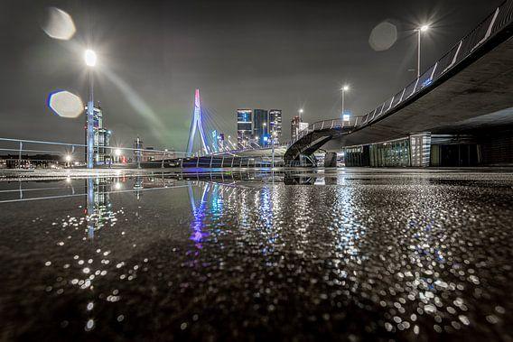 Rotterdam - Erasmusbrug - Lijnen - Reflectie