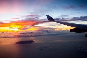 Anflug auf den Flughafen Tokio Narita mit dem Berg Fuji im Hintergrund von Jeffrey Schaefer