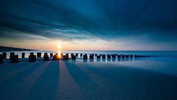 zonsondergang Domburg 1 van Pieter Helsen