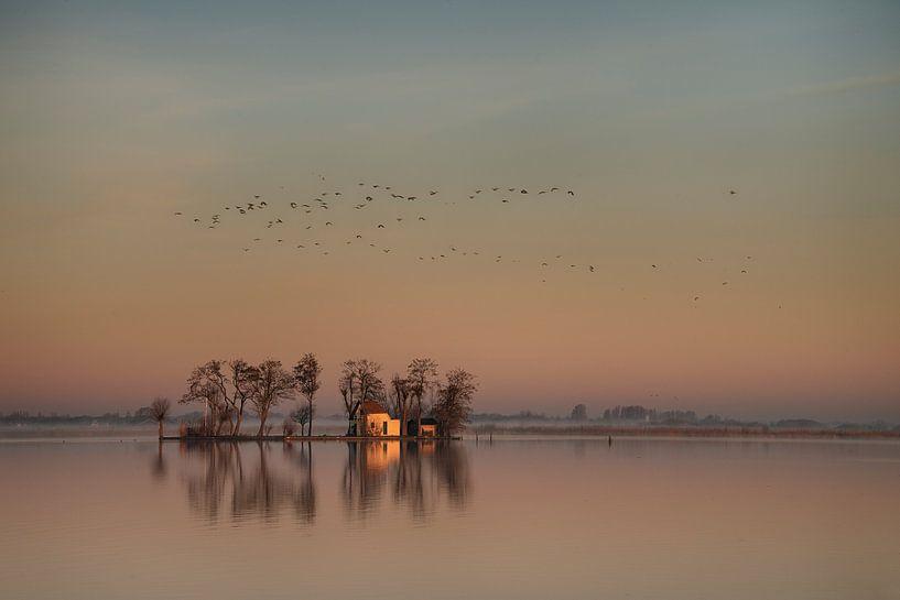 Eiland in de opgaande zon van Piet Haaksma