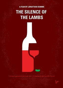 No078 My Silence of the lamb minimal movie poster van Chungkong Art