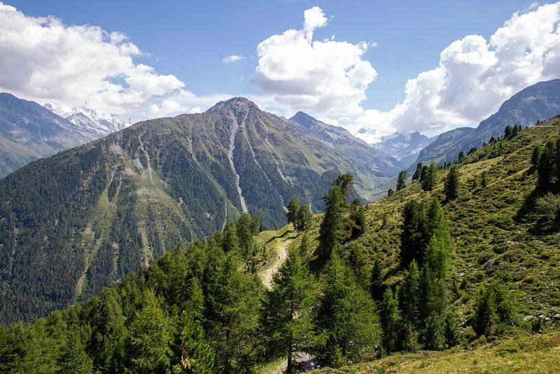 Die Berge bei Grimentz von Sander de Jong