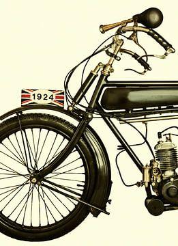 De Engelse motorfiets uit 1924 van