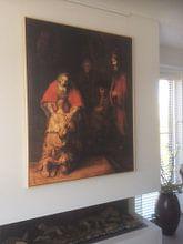 Klantfoto: Terugkeer van de Verloren Zoon, Rembrandt van Rijn, op canvas