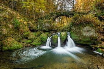 Schiessentümpel waterfall in Luxembourg #1 sur Michael Valjak
