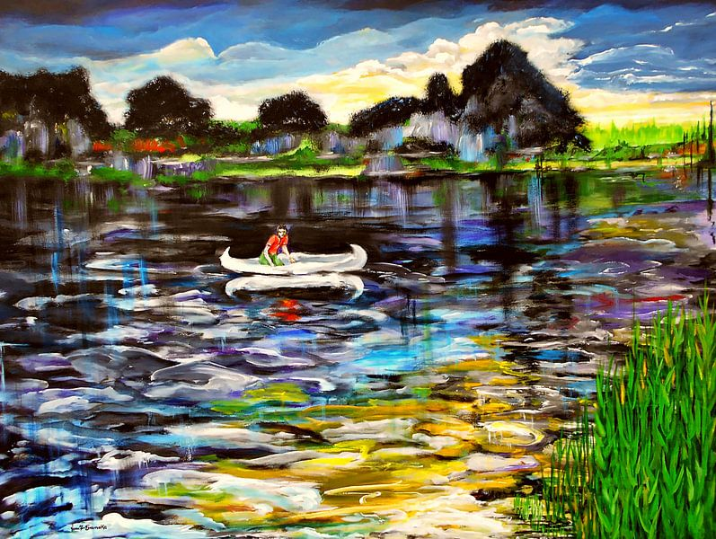 Das weiße Kanu