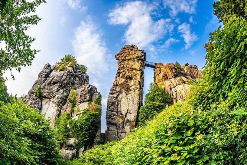 Externsteine in Teutoburg Forest, Germany van Günter Albers