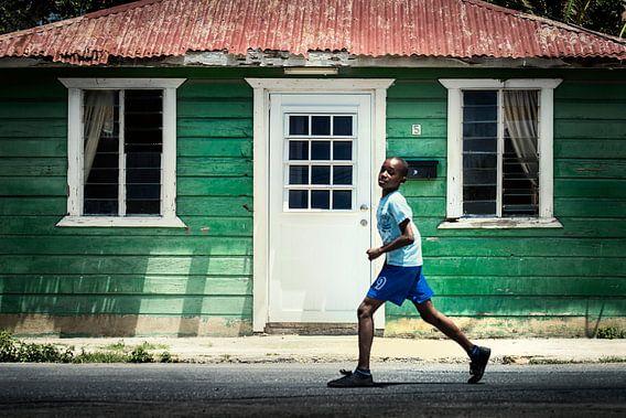 Straatbeeld Nieuw Nederland, Willemstad, Curacao van Keesnan Dogger Fotografie