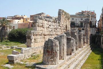 Tempio di Apollo, Apollo Tempel in de Oude Stad, Ortygia, Ortigia, UNESCO werelderfgoed, Syracuse, S van Torsten Krüger