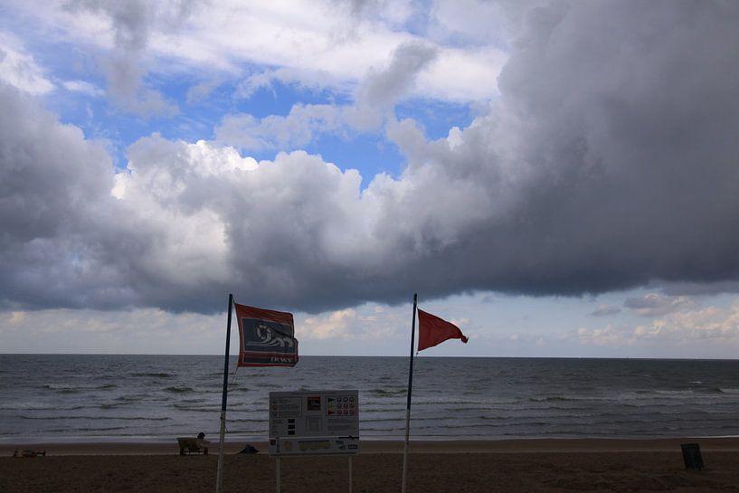 een stormachige zomerdag van Johan Töpke