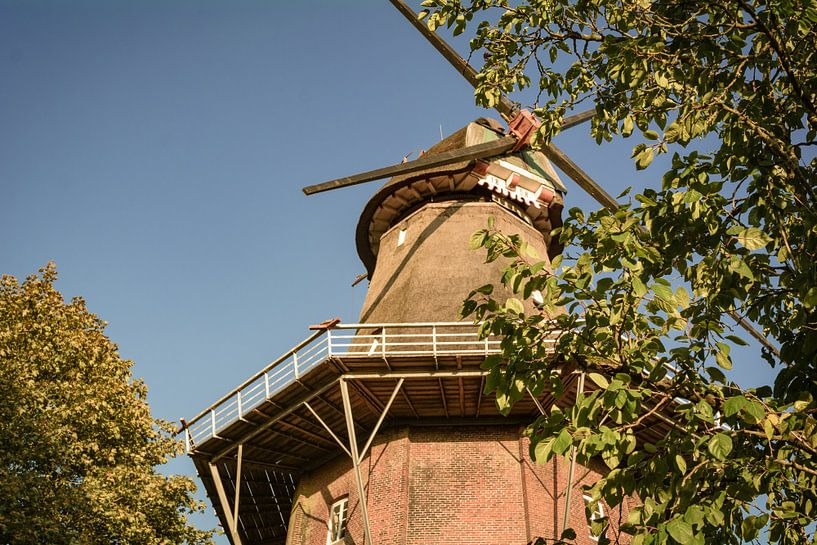 De Stift-windmolen in Aurich van Edith Albuschat