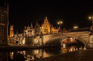 Zomeravond in Gent_01 van Alfred Meester