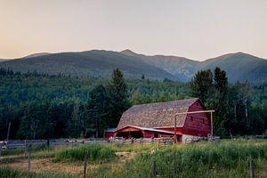 Canadese boerderij op het platteland