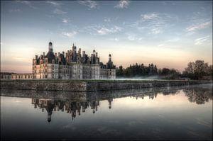 Kasteel Chambord bij morgenlicht van