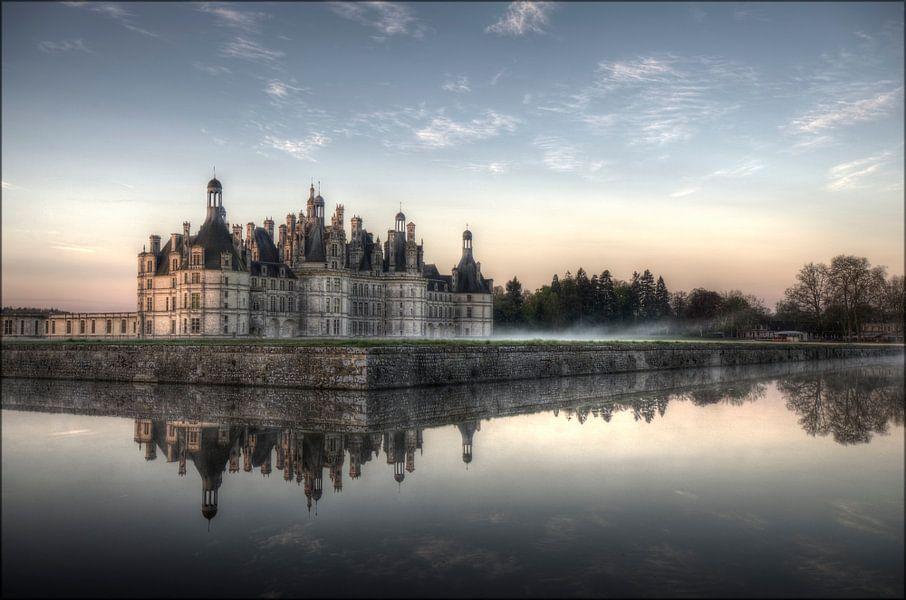 Kasteel Chambord bij morgenlicht