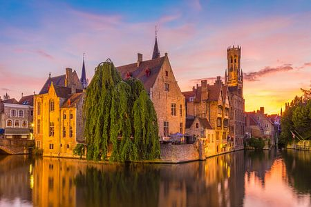 Brugge at Sunset
