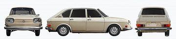 VW 411 drieluik in originele kleur van aRi F. Huber