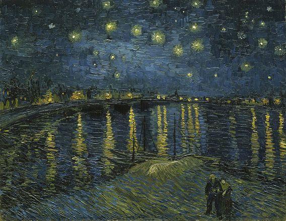 Sterrennacht over de Rhône, van Gogh van 1000 Schilderijen