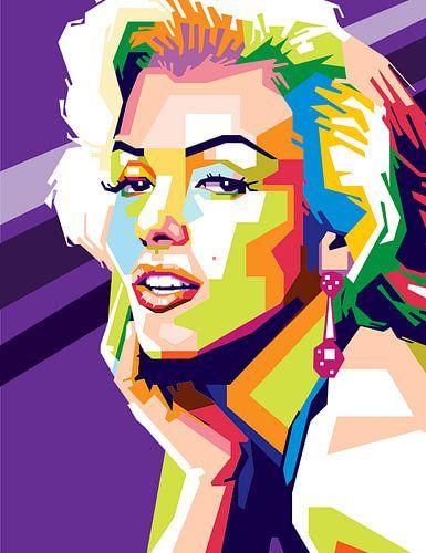 Marilyn Monroe Popart Kunstwerk (NIEUW) sur Kunst Company