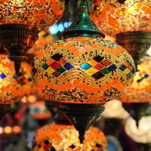 Sfeerlicht van Oosterse lampen