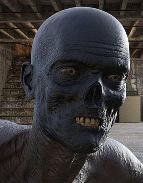 zombie in cellar face van H.m. Soetens