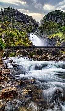 Wasserfall Latefossen HDR von Greet Thijs