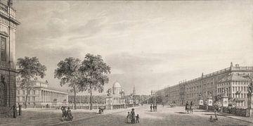 Karl Friedrich Schinkel, Berlijn Unter den Linden. Uitzicht op het Lustgartens Altem Museum, de kath van Atelier Liesjes