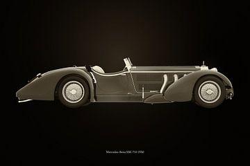 Mercedes-Benz SSK-710 zwart en wit