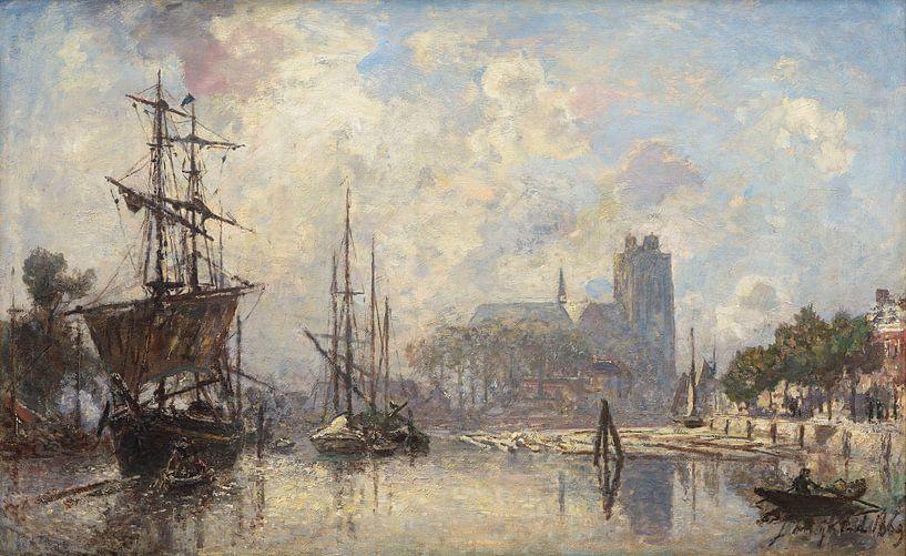 Het gezicht op Dordrecht, Johan Barthold Jongkind van Meesterlijcke Meesters