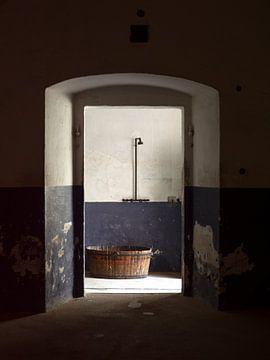 Washtub mit Dusche (Stilleben) von Maurits van Hout