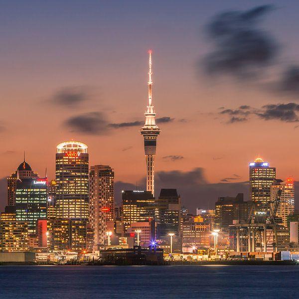 Auckland by Night van Henk Meijer Photography