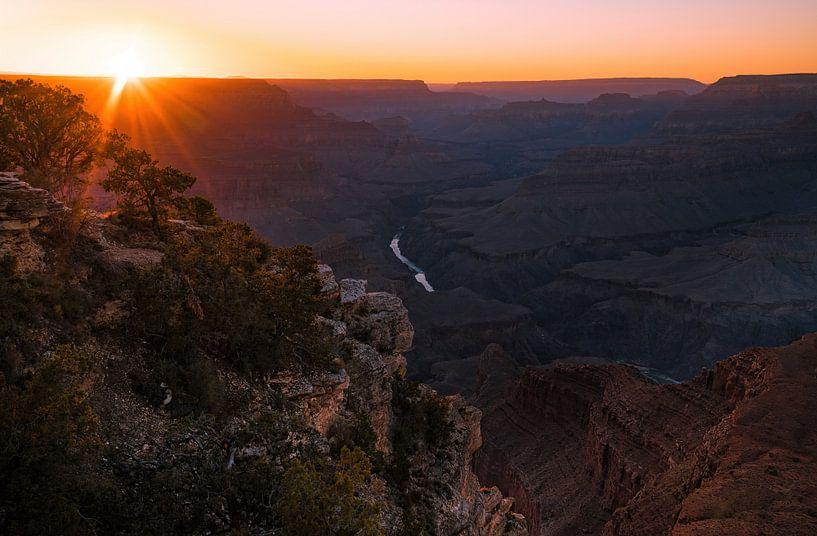 Mohave zonsondergang van Joris Pannemans - Loris Photography