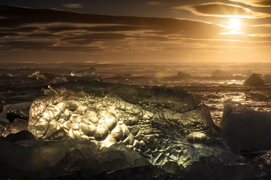 Sonnenaufgang am Diamantstrand von Andreas Müller