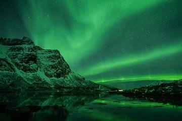 Nordlicht (Aurora Borealis) - Fjord von Martin Boshuisen - More ART In Nature Photography