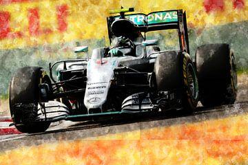 Nico Rosberg, Mercedes, 2016 von Theodor Decker