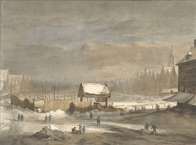 Der Damrak im Winter, Hendrik Pothoven von Meesterlijcke Meesters
