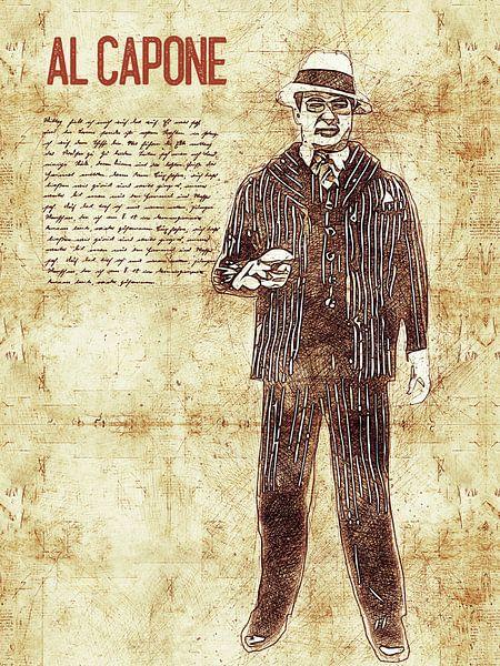 Al Capone von Printed Artings