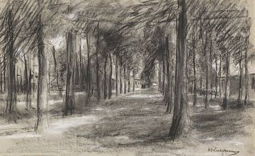 Laren, Holland - Brink (dorpsplein), Max Liebermann, ca 1897 van Atelier Liesjes