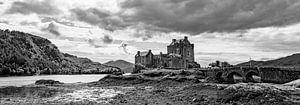 Eilean Donan in Black and White