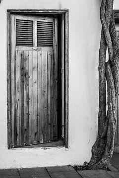 Charakteristische Tür in Ibiza-Stadt von Annette van Dijk-Leek
