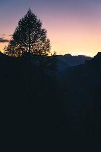 Silhouette in Italië van Sander Spreeuwenberg