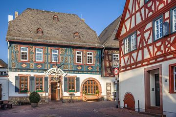 Historische Fachwerkhäuser in Hattenheim van Christian Müringer