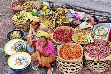 Pasar in Indonesië van Eduard Lamping